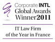 Corporate INTL Global Awards Winner 2011